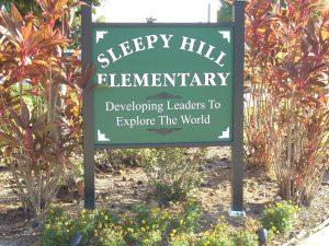 Sleepy Hill Elementary sign